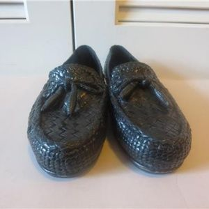 COLE HAAN BRAIDED LEATHER LOAFER  BLACK 6.5